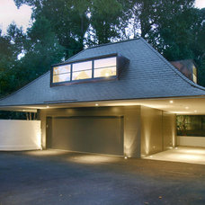 Contemporary Garage And Shed by Pursley Dixon Architecture