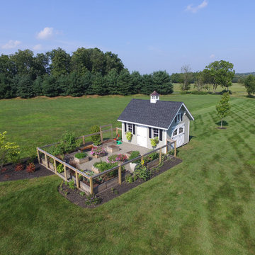 12'x16' Lap Siding Colonial Garden Shed aerial view