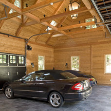 Traditional Garage And Shed by Habitat Post & Beam, Inc.
