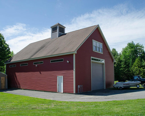 Contemporary Portland Maine Garage and Shed Design Ideas, Pictures, Remodel & Decor