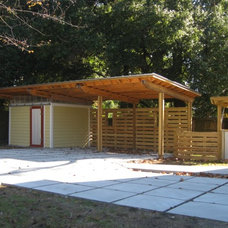 Modern Garage And Shed by Glover Design LLC