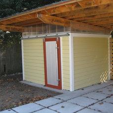 Modern Garage And Shed by Glover Design LLC