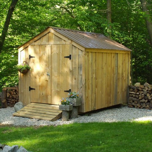Small mountain style garden shed photo in Manchester