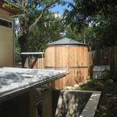 Contemporary Garage And Shed by Powell Landscape Architecture