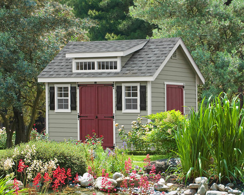 Shed color ideas pictures remodel and decor for Traditional garden buildings