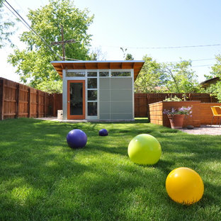 Design ideas for a contemporary shed and granny flat in Denver.