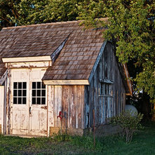 shabby chic style shed by dan waibel designer builder