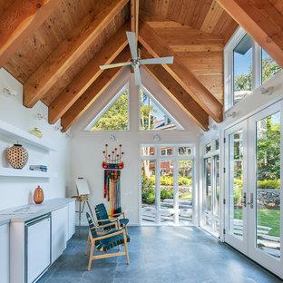 Freistehendes Modernes Gartenhaus als Arbeitsplatz, Studio oder Werkraum in Washington, D.C.