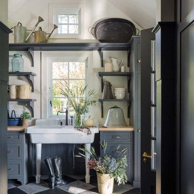 Inspiration for a cottage garden shed remodel in Burlington