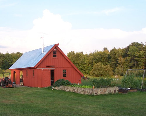 Saltbox roof houzz for Saltbox barn