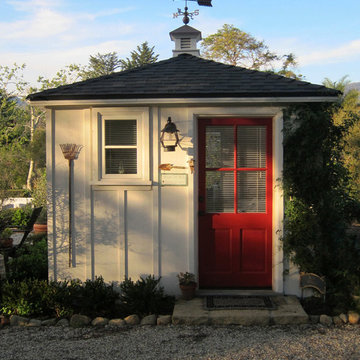 An Americana style She Shed by Jeff Doubet in Santa Barbara