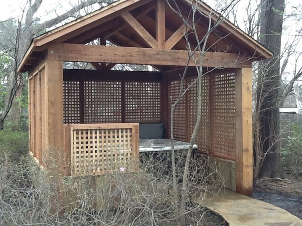 Traditional Garage And Shed by Serenity Hardscapes