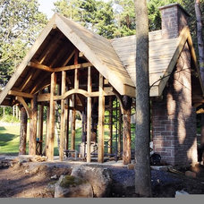Traditional Garage And Shed by Arrowhead Development Company Ltd