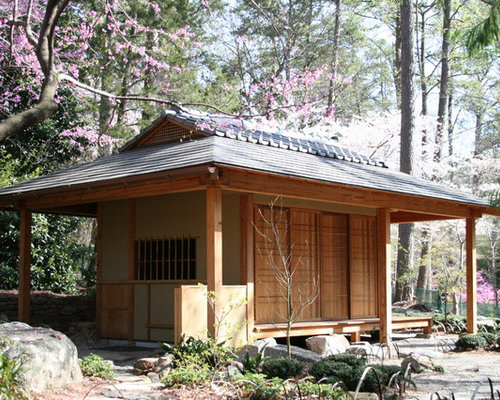 Tea house houzz for Small traditional japanese house design