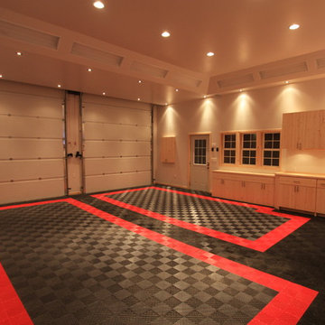 Awesome Home Garage Remodel with RaceDeck Garage Flooring ' Man Cave '