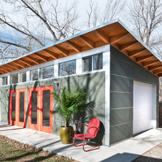 Contemporary Garage And Shed by Green Home Base Solutions, Inc