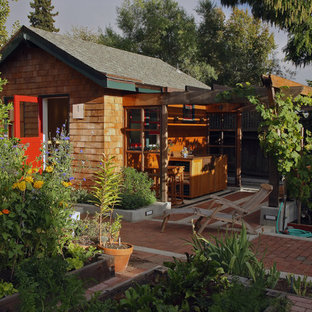 Design ideas for a small country detached garden shed in San Francisco.