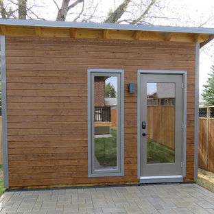 This is an example of a small contemporary detached studio in Toronto.