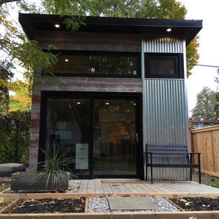 This is an example of a small modern detached studio in Toronto.