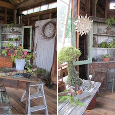 Eclectic Garage And Shed by Iron Accents