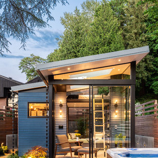 Inspiration for a small contemporary detached guesthouse remodel in Seattle
