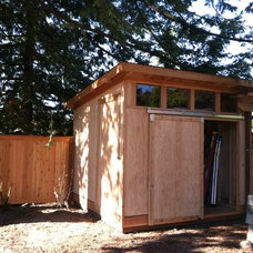 Modern Garage And Shed by Cedarcraft construction LLC