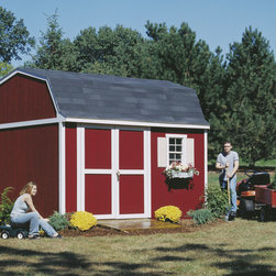 Backyard Storage Sheds - Traditionally designed backyard storage shed with plenty of overhead storage space. With many different accessories to choose from, this could be the perfect storage shed for your backyard. All you need to do is paint!