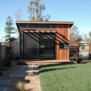 This is an example of a small contemporary garden shed and building in Orange County.