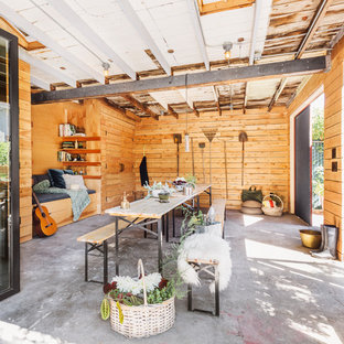 Inspiration for an industrial garden shed remodel in Seattle
