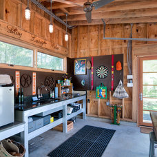 Rustic Garage And Shed by Trout Design Studio