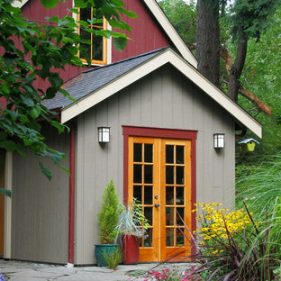 This is an example of a beach style shed and granny flat in Seattle.