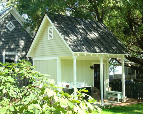 How to build a porch overhang garage and shed design ideas for Traditional garden buildings
