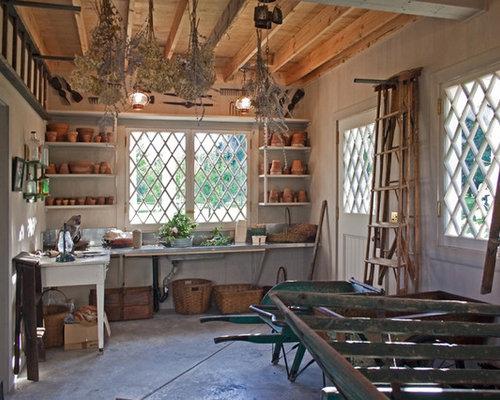 Potting shed design home design ideas pictures remodel for Garden shed interior designs