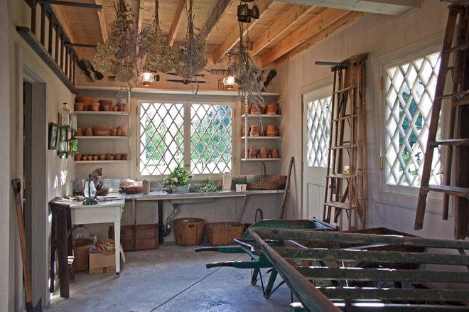 Rustic Porch by Giambastiani Design
