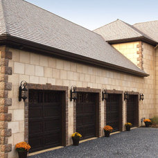 Traditional Garage And Shed by Coronado Stone Products