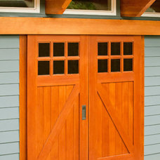 Contemporary Garage And Shed by Real Carriage Door Company