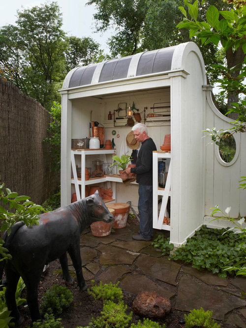 garden shed design. Elegant garden shed photo in Detroit Potting Shed Design  Houzz