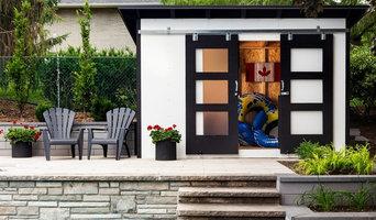 Black & White Modern Garden Shed Maintenance free