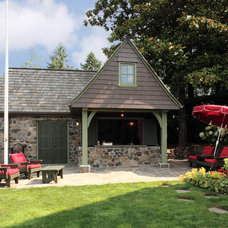 Traditional Garage And Shed by MCM Construction Inc