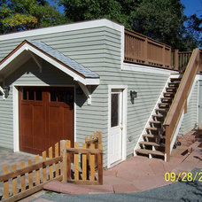 Traditional Garage And Shed by ESF Construction