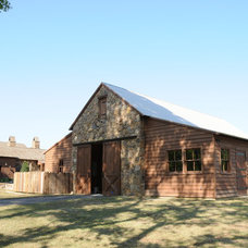 Farmhouse Garage And Shed by Al Jones Architect