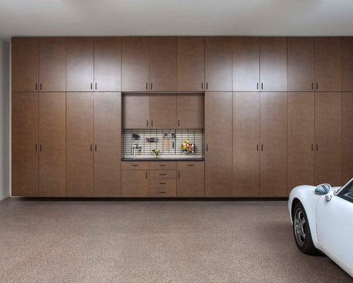 Floor To Ceiling Cabinets Garage and Shed Design Ideas, Pictures, Remodel & Decor