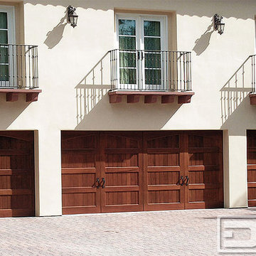 California Dream 03 | Wood Garage Doors Custom-Crafted for a Spanish Style Home!