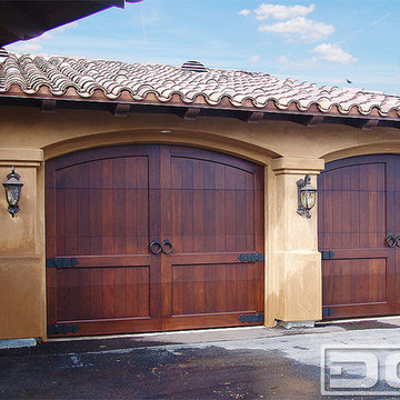 California Dream 10 | Custom Made Arched Top Carriage Style Wooden Garage Doors!