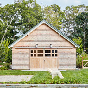Shed - beach style detached shed idea in Boston