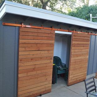 Design ideas for a contemporary garden shed in San Francisco.