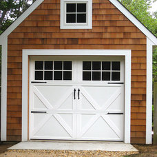 Traditional Garage And Shed by AJ Garage Door & Services