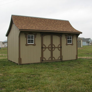 Photo of a medium sized world-inspired detached garden shed and building in Kansas City.