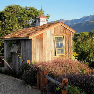 Small country detached garden shed in Santa Barbara.