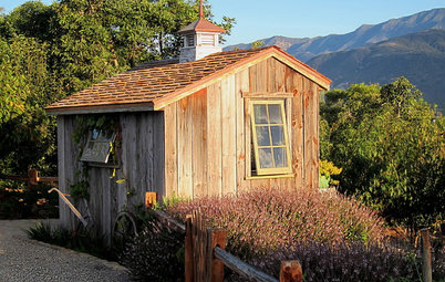A Storybook Potting Shed Rises From a Dirt Lot
